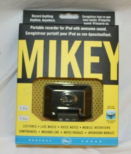 MIKEY - iPod portable recorder, awesome sound, works w/Blue Free app on iTunes