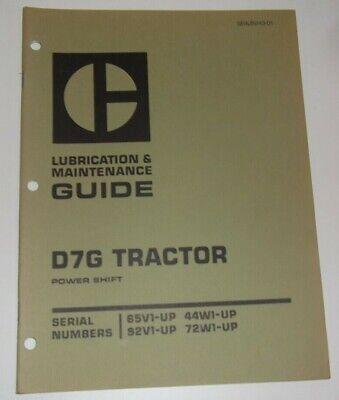 Cat Caterpillar D7g Crawler Tractor Dozer Lubrication Maintenance Manual Book