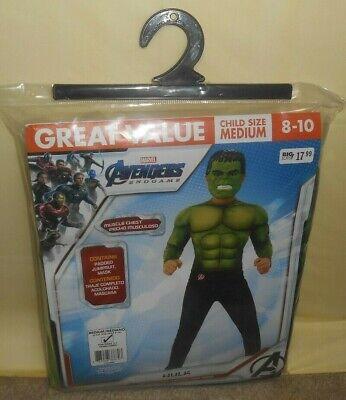 Incredible Hulk Suit (Incredible HULK Marvel Avengers End Game Muscle Costume Mask Size Medium)