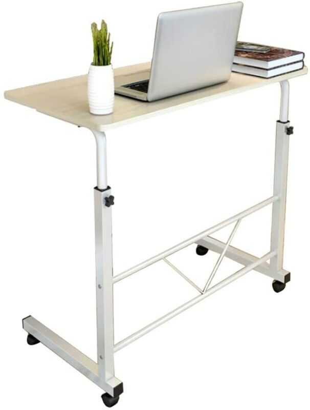 Computer Mobile Stand Laptop Desk Home Office Rolling Adjustable Portable Table