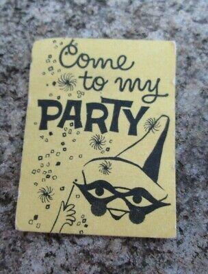 VNTG Barbie Skipper Ken Doll Masquerade Paper Halloween Party Invitation ORG  - Masquerade Halloween Invitations