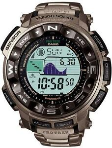 CASIO - PRW25OOT TOUGH TITANIUM MULTI FUNCTION SOLAR POWERED WATCH WITH ATOMIC ACCURACY - New in Box!
