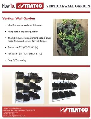 Garden Grow Wall-mounted Elevated Raised Bed Vertical Planter Vegetables Herbs