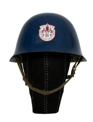 Arkan Tigers Blue Casque & SDG Decal Serbian Volunteer Guard Original