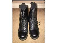 e84e1a42324b Dr Martens Black 10-eye boots