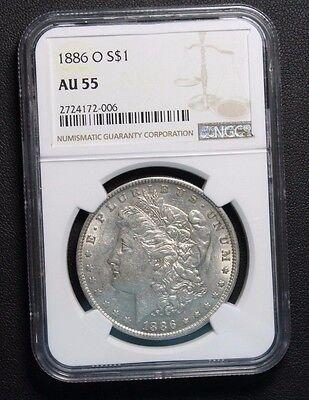 1886 O Morgan Silver Dollar Ngc Au55  Price Reduced