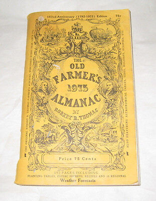 1975 The Old Farmers Almanac Robert Thomas Paper Back