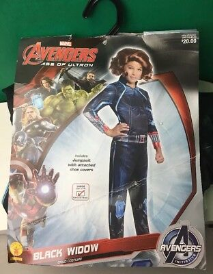Black Widow Rubies Costume Avengers Age of Ultron Girls Childs Size Large 14/16
