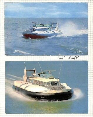 """BC272 1960s GB *Hoverlloyd* Hovercraft """"Old Swift"""" Postcards{2} Album Page"""