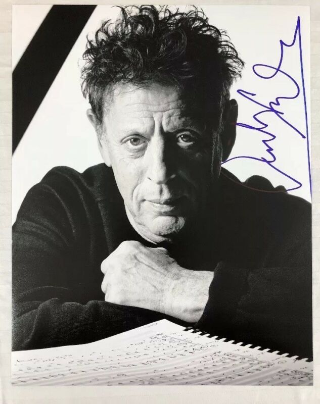 PHILIP GLASS HAND SIGNED 11x14 PHOTO AUTOGRAPHED LEGEND COMPOSER VERY RARE COA