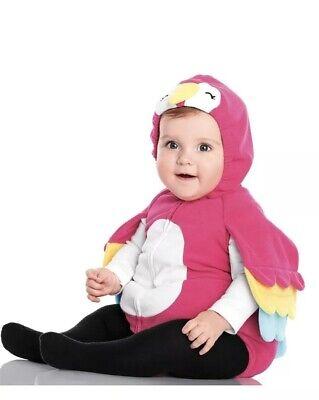 Parrot Halloween Costume For Baby (NIP Carter's Baby Girl Parrot Halloween Costume Pink White 12)