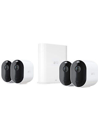Arlo Pro3 Smart Home Security Cameras 2k QHD 4 Camera Kit, Wire Free, Colour
