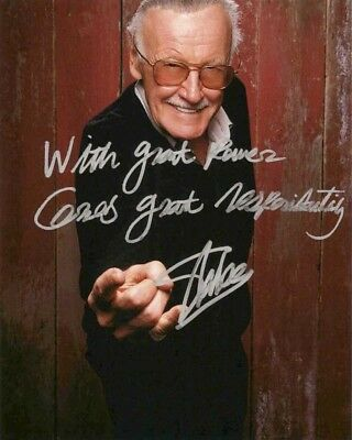 Купить Stan Lee Signed 8x10 Autographed Photo Reprint Spider Man Marvel Comics