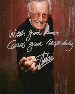 Stan Lee Signed 8x10 Autographed Photo Reprint Spider Man Marvel Comics