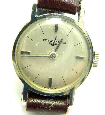 NICE USED ULYSSE NARDIN 14K SOLID WHITE GOLD WOMEN'S WATCH ULYSSE NARDIN WATCH