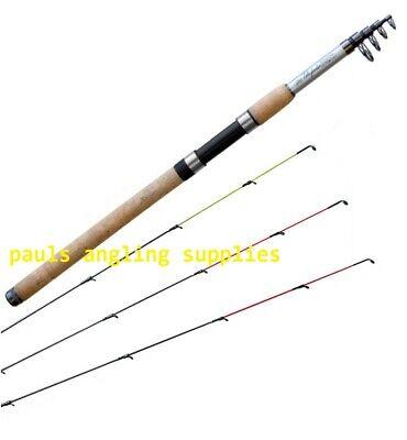 Team Specialist Tele Telescopic 9 ft Feeder Fishing Rod 3 Tips