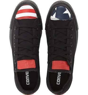 Converse Chuck Taylor All Star USA Flag Toe Cap Black Oxford Sneakers Stars Bars Chuck Taylor All Star Oxford