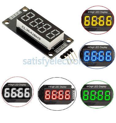 Redbluegreenwhite 4-bits Digital Led Tm1637 Clock Tube Display 0.56 Inch New