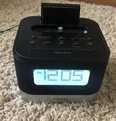 iHome Lighting Dock Radio Alarm Clock Speaker - iPL10 -iPod/iPhone 5/5C/5S/6/6s+