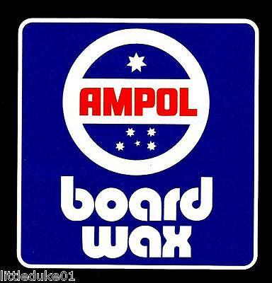 "/""AMPOL SURFBOARD WAX/"" VINTAGE RETRO Sticker Decal 1970s LONGBOARD SURFER SURF"
