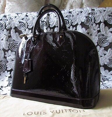 Limited Edition LOUIS VUITTON Monogram Alma Vernis Dark Amarante GM handbag/bag