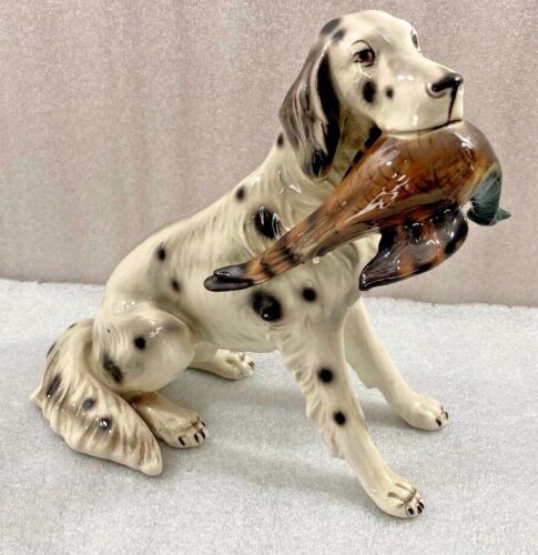 "Wein Keramos ENGLISH SETTER Bird Hunting Dog 9.5""H  porcelain Figurine Austria"