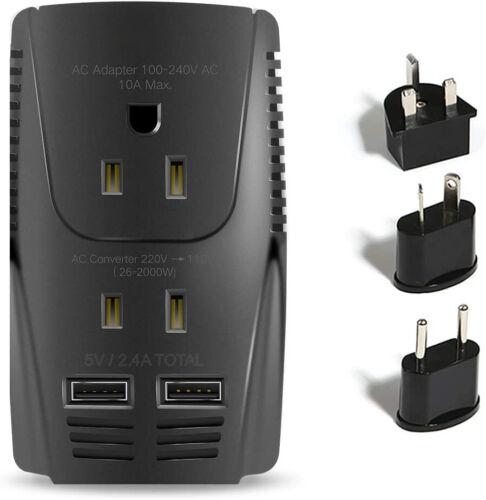 C11 2000W Travel Voltage Converter for Hair Dryer Straightener Curling Iron