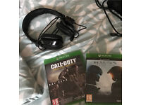 Xbox one game and triton headset bundle