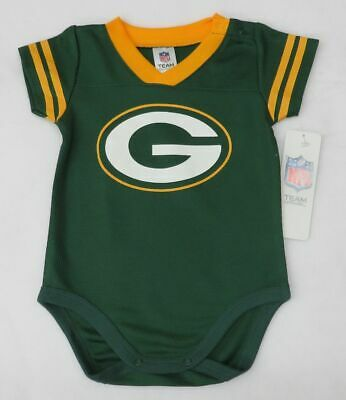 NFL Green Bay Packers Infant Dazzle Jersey Style Bodysuit 12 Months (Green Infant Nfl Jersey)