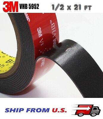 3m Vhb Double Sided Foam Adhesive Tape 5952 Automotive Mounting 12 X 21 Ft