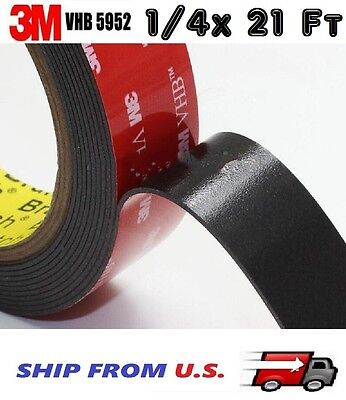 3m 14 X 21 Ft 7 Yards Vhb Double Sided Foam Adhesive Tape 5952 Automotive