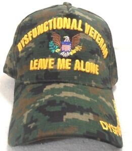 MILITARY CAP DYSFUNCTIONAL VETERAN LEAVE ME ALONE DIGITAL CAMOUFLAGE HAT