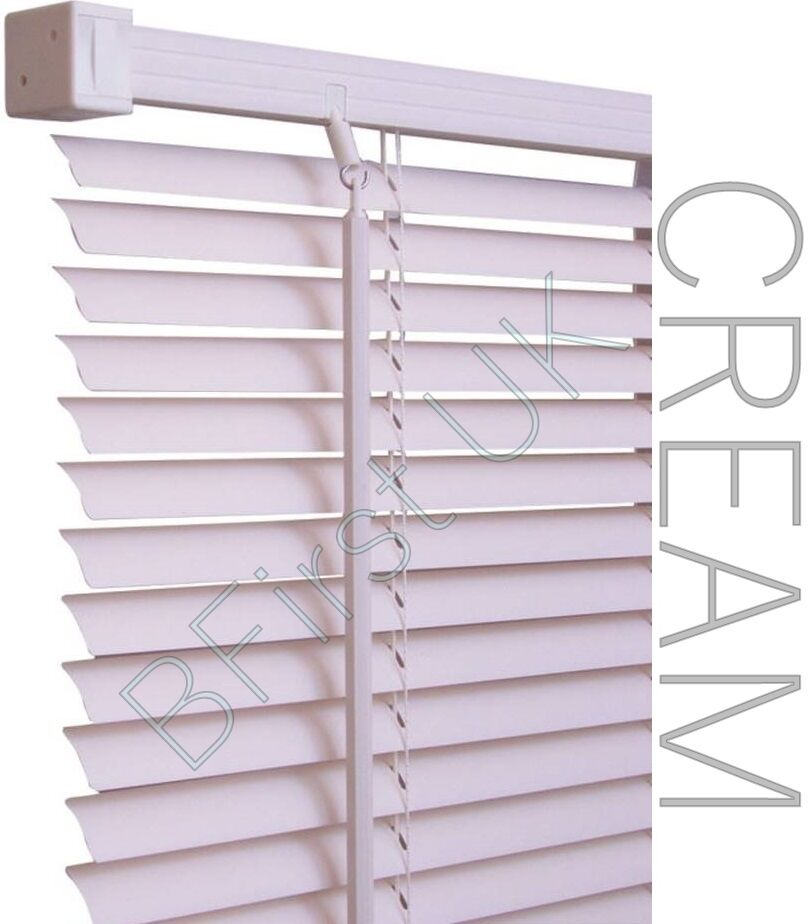 Read to Fit Venetian Window Blind PVC Trimmable Easy to Cut Slats WITH BRACKETS