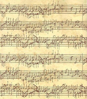 MUSIC NOTES ON CREAM HEAVY GIFT WRAPPING PAPER - 6 Ft Sheet