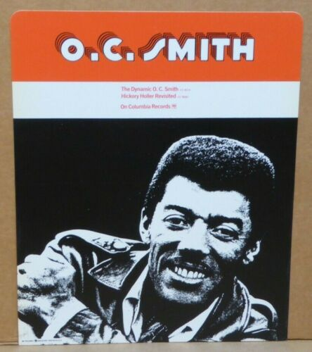 O.C. Smith 1970 record store hard plastic advertisement rack card Columbia 15x12
