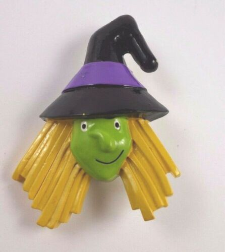 Witch Yellow Hair Halloween Pin Unbranded