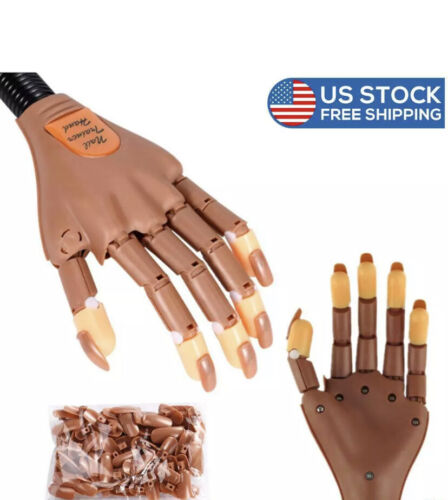 Nail Training Practice Hand Movable False Fake Hands For Nail Manicure DIY