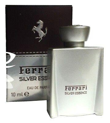Miniature Mini Ferrari Silver Essence 10ml EDP Men Aftershave