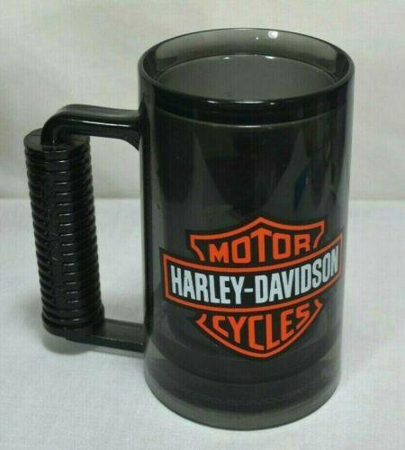 HARLEY DAVIDSON Motorcycles Freezer Black Mug Cup Cold Double Wall Beer