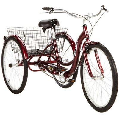 Adult Tricycle Trike Women Men 1 Speed 3 Three Wheel Bike Schwinn 26 Bicycle New