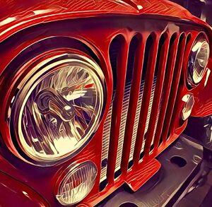 Jeep cj grill