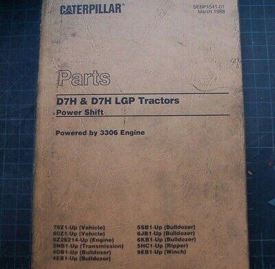 Cat Caterpillar D7h Tractor Dozer Crawler Parts Manual Book Catalog Spare List