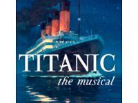 2 Titanic Tickets Liverpool Empire Theatre Saturday 4th August 2018