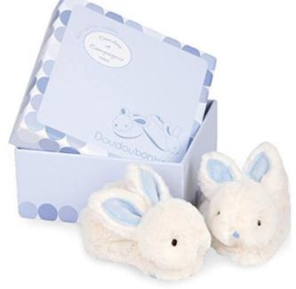 Rabbit Rattle Booties, baby shoes