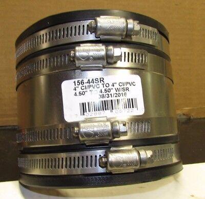 New 4x4 156-44sr Cipvc X Cipvc Flexible Pipe Coupling Connector W Shear Ring