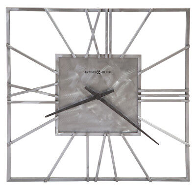 Howard Miller 625-611 Lorain - 24 Square Wrought Iron Gallery Wall Clock 625611