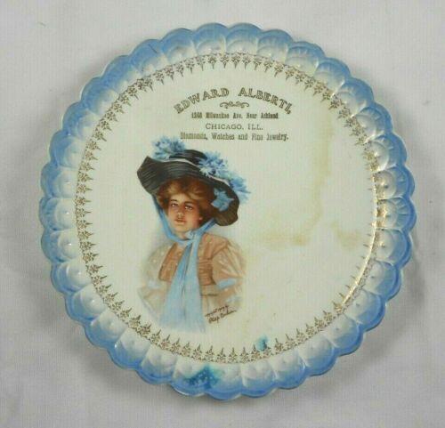 Vtg Advertising Plate Edward Alberti Chicago ILL Fine Jewelry Philip Boileau