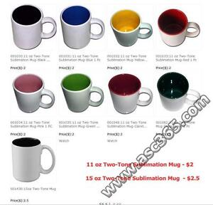 11 oz Two-Tone Sublimation Mug from 8 COLORS  001030