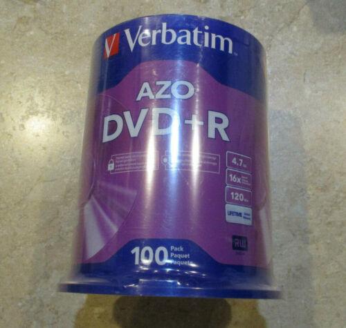 Verbatim 95098 DVD+R Recordable Media 4.7GB 100 Pack