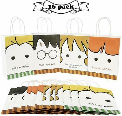 Party Bags For Kids (Harry Potter Favor bags Party Favor  Goodie Paper Tote Bags for Kids 16 ct Fun)